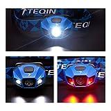 TEQIN Superhelle CREE LED Scheinwerfer Hochleistend Taschenlampe Wasserabweisend USB Kabel Wiederaufladbar Scheinwerfer Lampe für Radfahren Camping Andere Outdoor Aktivitäten(Blau) - 2
