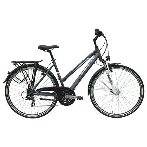 Pegasus Piazza Trapez Damenfahrrad 28 Zoll 21 Gang Shimano Trekking Fahrrad 2017, Rahmenhöhe:45 cm, Farbe:Grau