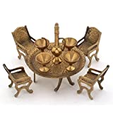 Balaji Latest Unique Design Dining Table Chair Maharaja Set -196