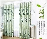 HZH-HZH-Vorhang Moderne, einfache und Dicken Schallschutz (2 pcs), grün, 3,5 Breite X2.2 Höhe