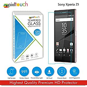 PIXLTOUCH Super Strong Tempered Glass for Sony xperia Z5 Premium Tempered Glass for Sony Z5