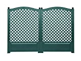 KHW 37723 Spalier 100 cm mit Erdspießen, 2-er Set, grün