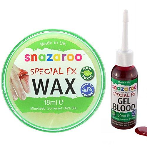 wasserbasierte Gesicht & Körper Make-up Satz mit einem Snazaroo 18ml Spezial FX Wachs und eine