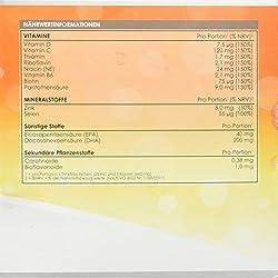 LINEAVI Immun | mit Vitaminen, Mineralstoffen, Omega-3-Fettsäuren | unterstützt das Immunsystem und den Energiestoffwechsel | in Deutschland hergestellt | freiverkäuflich | 30 Trinkflaschen/Kapseln