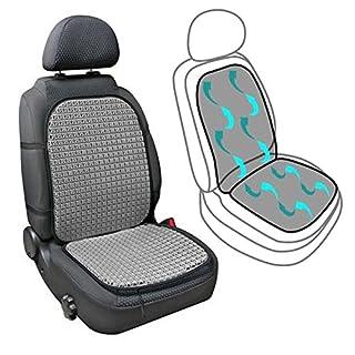 AutoScheich Belüftete Sitzauflage Sitz Klima Belüftung Sitzbezug Luft Sitzmatte für Auto Taxi Transporter Wohnmobil