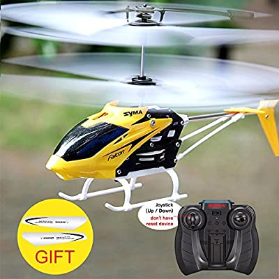 RC Helicopter Channel Mini RC Drone with Gyro Crash Resistant JQ-029A Toys for Boy Kids Gift Yellow