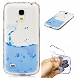 Galaxy S4 mini Coque, Samsung S4 mini Housse, Samsung Galaxy S4 mini i9190 / i9195 Etui,BONROY Drôles motifs peints mignons Ultra-Mince Thin Soft Silicone Etui de Protection pour Souple Gel TPU Bumper Poussiere Resistance Anti-Scratch Case Cover Couverture Pour Samsung Galaxy S4 mini i9190 / i9195