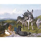 """Compañeros de la buena, George horlor, Tablero artístico de acuarela de 315 g/m², Image size: 342mm x 418mm (13.5"""" x 16.5"""")"""