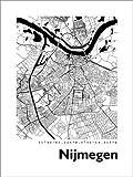 Poster 30 x 40 cm: Stadtplan von Nijmegen von 44spaces -