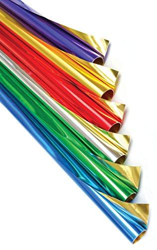 CI de Doble Cara de Papel de Regalo con Rollos de 6 Colores, 6 Unidades