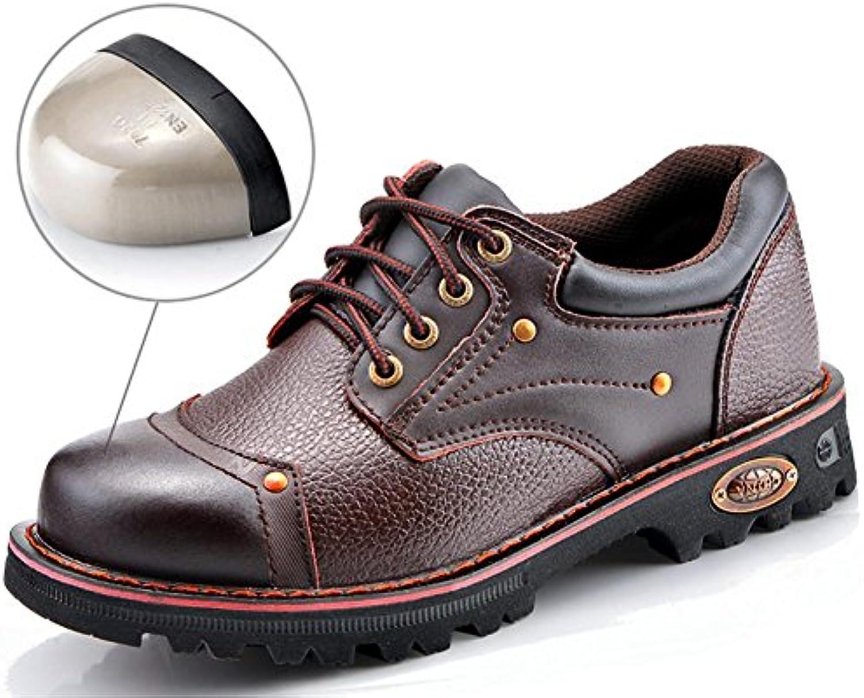 NANXIE Scarpe da Lavoro in Pelle da Uomo, in Pelle, Taglia Leggera 36To44, EU37 | diversità  | Uomo/Donne Scarpa