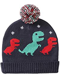 7732236a2fc exemaba Baby Boys Winter Knit hat - Infant Soft Warm Knitted Beanie Cap  Cute Fall Toddler Kids Crochet Hairball…