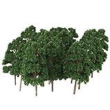 [Keine Marke Waren] Baume Baum Modellbaum Bahnanlage wargame N Szene Messer Sammlung Die Modelleisenbahn, Diorama und Architekturmodell-Zug-Modell bis zwanzig 8,5 cm dunkelgrun