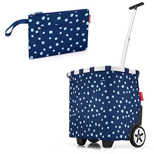 reisenthel - EXKLUSIVES ANGEBOT! carrycruiser + GRATIS case 2! Einkaufskorb Einkaufstasche Einkaufstrolley NUR SOLANGE DER VORRAT REICHT (spots navy)