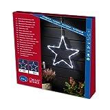 Konstsmide 4431-103 LED Acrylsilhouette 'Stern' / für Außen (IP44) /  24V Außentrafo / 24  warm weiße Dioden / transparentes Kabel