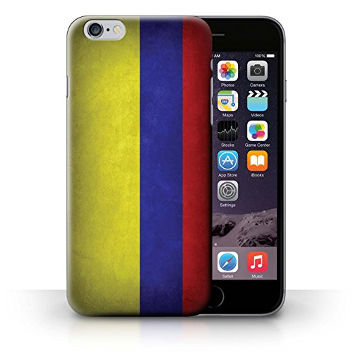 Coque en plastique pour iPhone 6+/Plus 5.5 Collection Drapeau - Suisse Columbia/Colombie