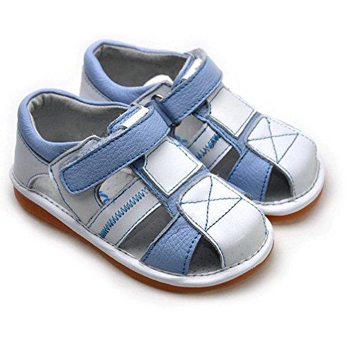 FREYCOO - Scarpine bimba primi passi con fischietto | Blu e bianco sandali Blu