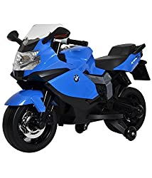 Brunte BMW Original Licensed Blue Battery Operated Ride-on Bike 1300 with 12 volt battery and sound and music