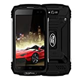 DE_Elektronik® Outdoor Camping Smart Phone, guophone X25.0Pouce Ultra Thin Android6.0MT6737Quad Core 2G + 16G 4G Unlock Dust/Shock/Waterproof Smart Phone 5500mAh, Noir