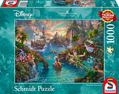 Schmidt Spiele Puzzle 59635 Thomas Kinkade, Disney-Peter Pan, 1.000 Teile Puzzle, bunt
