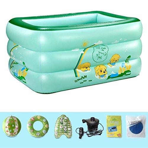 HCJCQYG GUORONG Aufblasbare Badewanne, Child Collapsible Swimming Pool Verdickung Haushalt Babywanne Kunststoff-Faltbad Dick Warm Badewanne (Farbe : #2)