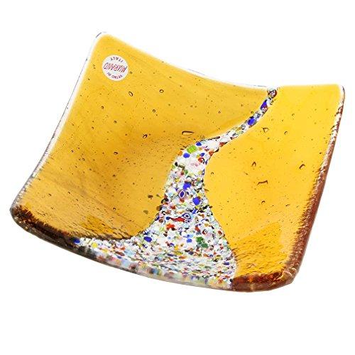 GlassOfVenice Assiette décorative de Klimt Square - Ambre