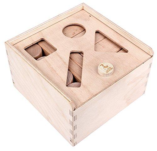 CreaBLOCKS 2-in-1 Steckbox / Formensortierspiel / Sortierbox Baby – Bauklötze - 5