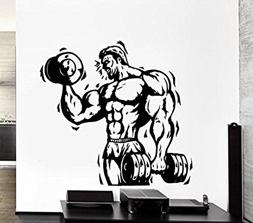 GGWW Wall Stickers Vinyl Decal Bodybuilder Bodybuilding Iron Sport Cross Fit Decor (Z2184I)