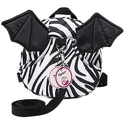 Zicac de Nueva Bat Caminar Arnés de seguridad Mochila bolsa para bebé canguro Walkers cinturón para viajar compras explorar blanco