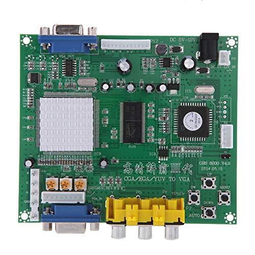 JSMeet Original GBS8200 1-Kanal-Relaismodulplatine CGA/EGA/YUV/RGB zu VGA-Arcade-Spiel Video Converter für CRT-Monitor LCD-Monitor PDP-Monitor (A1) Crt-monitore