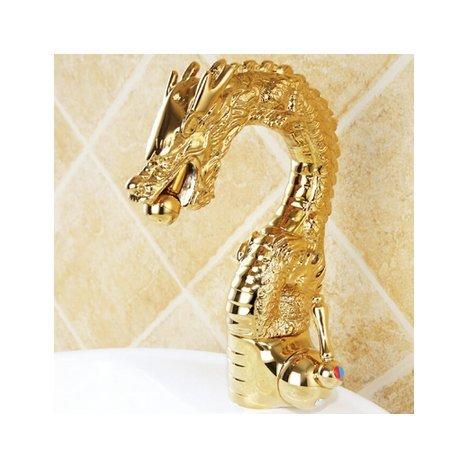 Gowe Luxe robinet laiton Dragon, couleur or Mélangeur