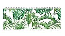 Tisch-Querkalender Style Dschungel 2021 - Büro-Planer 29,7x10,5 cm - Tisch-Kalender - 1 Woche 2 Seiten - Ringbindung - Alpha Edition