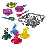 Guilty Gadgets  - Juego de Utensilios de Cocina para niños, 25 Piezas, Juego de Juguetes, Lavado de lavavajillas, Limpieza en Cada uno