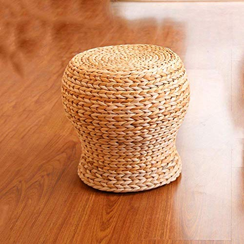 CLLCR Stuhl-Fußhocker Massivholz + Rattan Material Mode Sofa Hocker Einfache Casual Hocker Kinder Hocker