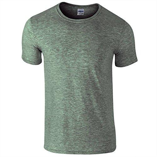 Gildan Softstyle Erwachsene gesponnene T-Shirt - Gr - Heather Military Green - L (T-shirt Military Erwachsene Grün)