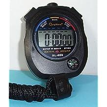 Cronometro Stopwatch Deportivo con Reloj, Alarma, Calendario y Brujula