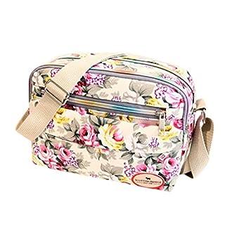 Sale Clearance Women Handbags Halijack Ladies Vintage Printing Canvas Messenger Bag College Girl Casual Travel Purse Cosmetic Bag Summer Beach Bag Small Shoulder Bag Crossbody Bag (White)