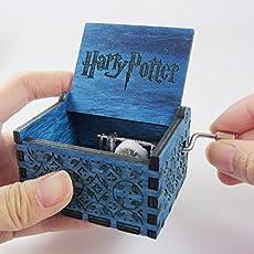 Fancelite Engraved Wooden Harry Potter Music Box Blue