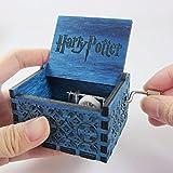 #1: Fancelite Engraved Wooden Harry Potter Music Box Blue