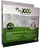 FlyXXX® Pollenschutzvlies Pollenschutzgitter NEU* Mit Werkzeug* Pollenfilter Set für Fenster 130 x150 cm - 3er-Pack