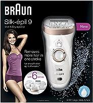 Braun Silk-épil 9 9-561 Wet & Dry Cordless Epilator/Epilation + 6 Ex
