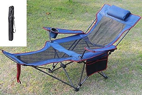 Chaise pliante, extérieur loisirs portable chaise, chaise de plage, pêche à la présidence, le président lit,un bleu