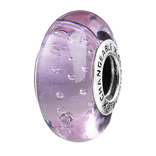 Changeable murano charms bead da donna argento sterling 925 (bolla sogno)