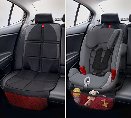 royal rascals car seat protector protects upholstery with padded cover organiser pockets. Black Bedroom Furniture Sets. Home Design Ideas