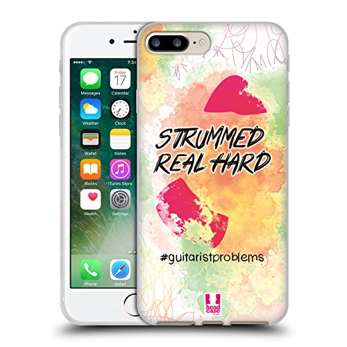 Head Case Designs Plettro Problemi Di Chitarra Cover Morbida In Gel Per Apple iPhone 7 / iPhone 8 Plettro