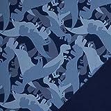 Swafing GmbH - Stoff - Softshell Dinosaurier dunkelblau -