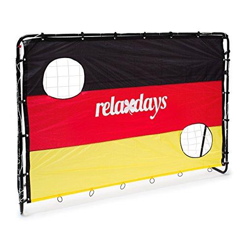 Relaxdays Fußballtor mit Torwand HBT 150 x 210 x 75 cm, Deutschland, M, 10020023 thumbnail