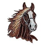 Bestellmich / Aufnäher - Toppa a forma di testa di cavallo, da applicare con ferro da stiro