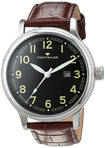 TOM TAILOR Watches Herren-Armbanduhr Analog Quarz Leder 5415201