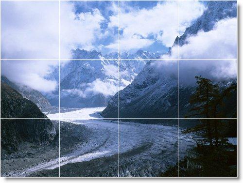 INVIERNO FOTO BAñO AZULEJO MURAL W018  36X 48CM CON (12) 12X 12AZULEJOS DE CERAMICA